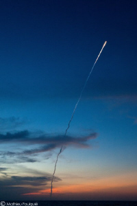 european Ariane rocket blasts off in French Guiana. from ... by Mathieu Foulqui&#233; 